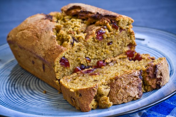 Pumpkin Bread Loaf Lemon Cranberry Muffins