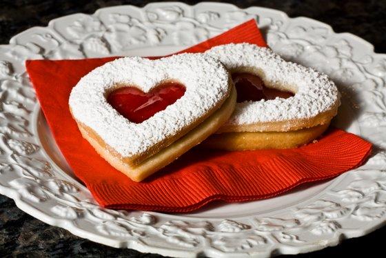 Heart Jam Cookies plate