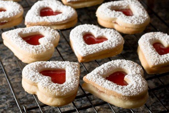 Heart Jam Cookies