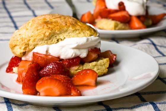 Strawberry Shortcake Rosemary and Gouda Buttermilk Biscuits