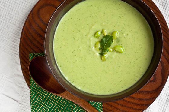 Edamame Soup top