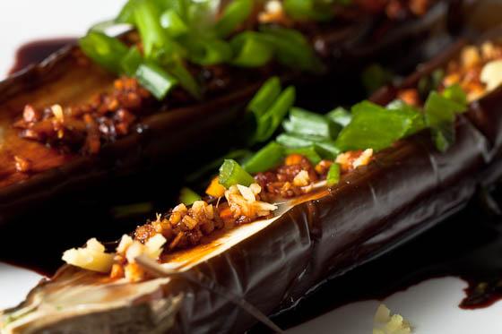 Japanese Eggplant close