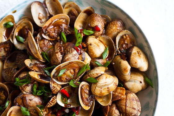Stir Fry Clams top