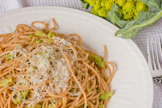 pasta with broccoli romanesco
