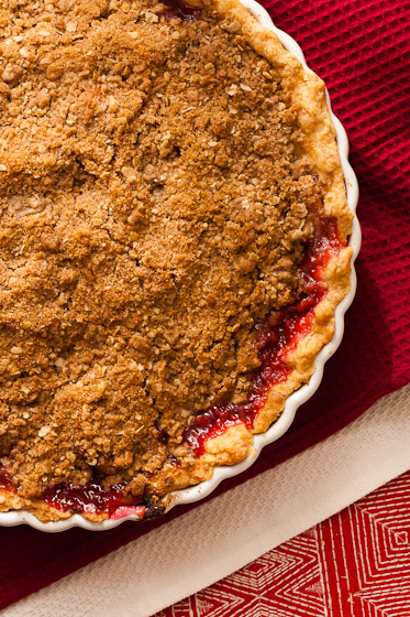 ... Cranberry Pie With Oatmeal Pecan Crumb Topping Recipe — Dishmaps
