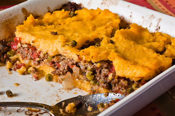 tamale pie2 Cornmeal Cranberry Cake